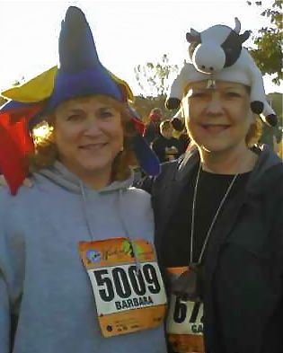 Barbara Adams and Gail Kent at 10K